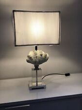 COACH HOUSE RESIN SHELL CASTING TABLE LAMP WITH OBLONG SHADE