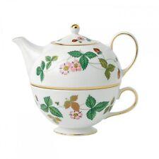 Wedgwood WILD STRAWBERRY TEA FOR ONE Set Teapot Tea Pot - NEW / BOX!