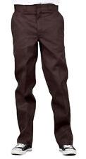 Pantaloni da uomo marrone a gamba dritta