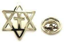 Messianic Cross Star of David Jews for Jesus Hat Jacket Tie Tack LAPEL PIN