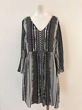 ASOS Womens Size 10 Petite V-neck Zip Back 3/4 Wide Sleeve Short Swing Dress NWT