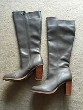 Dorothy Perkins Knee High Zip Synthetic Leather Women's Boots