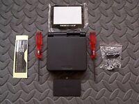 Game Boy Advance SP Replacement Housing Shell BLACK + Screen Lens