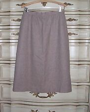 Pendleton Vintage Beige Heather A Line Lined Wool Skirt 29 waist