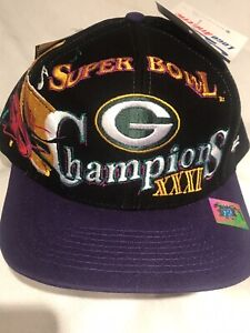 Vintage 1997 Green Bay Packers NFL Super Bowl XXXI Hat Cap Logo Athletic NWT