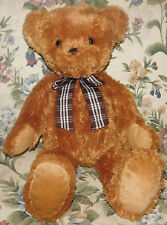 "Animal Alley Brown Teddy Bear Large 22"" Plaid Bow Plush Stuffed Animal Soft Toy"
