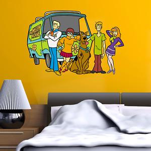 Scooby Doo Gang Mystery Van inc Kids Bedroom Vinyl Decal Wall Sticker Gift Xmas