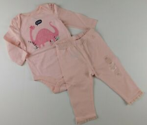 NWT Gap Baby Girl's 2 Pc Outfit LS Bodysuit Little Sister/Lace Leggings 6-12M