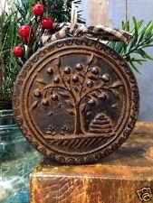 Shaker Tree Blackened Beeswax Ornament Folk Art Primitive Prim Ornie Cinnamon