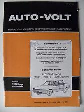 RTA revue technique automobile AUTO VOLT schéma-fiche AUSTIN MONTEGO 1300 /1600