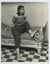 Marie Versini Vintage silver print Tirage argentique  21x27  Circa 1958