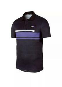 Nike Tennis NY Court Men's Slim Fit Polo CJ3296-045 Size Medium