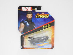 "1:64 Hot Wheels Marvel Character Cars ""Thor"" Hot Wheels FLG59"