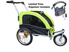 Booyah Strollers Medium Pet Dog Stroller and Bike Bicycle Trailer Organizer Incl