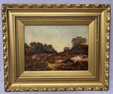 Original oil painting on canvas .English landscape Signed J Hudson 1879.Framed