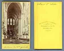 Belgique, Bruxelles, Intérieur de Sainte Gudule  CDV vintage albumen. Vintage Be