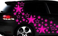 93-teiliges Sterne Star Auto Aufkleber Set Sticker Tuning WANDTATTOO Blumen xxxb