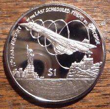 """British Virgin Islands 2013 """"Concorde"""" $1 Coin"""