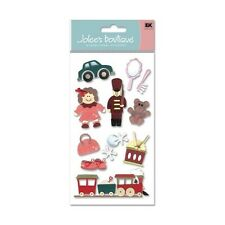 Christmas Toys Train Dolly Jacks Drum Purse Teddy Bear Santa Jolee's 3D Sticker