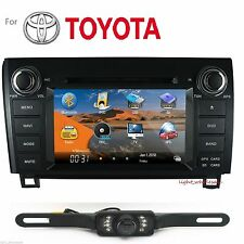 "2 DIN 7""HD LCD Car DVD Player GPS Navigation BT For Toyota Tundra 2003-13+Camera"