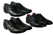 MENS BLACK SLIP ON AND LACE UP FORMAL DRESS WORK SHOE SIZE 6-12