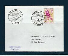 FRd enveloppe sport et philatélie expo a 71 le Creuzot   1968