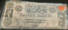 Canal Bank Confederate States of America Note $20.00 New Orleans