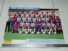 CLIPPING POSTER FOOTBALL 1992-1993 PARIS SAINT-GERMAIN PSG PARC-DES-PRINCES