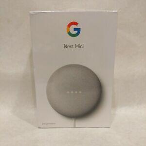 Google Nest Mini (2nd Generation) Smart Speaker - Chalk; New
