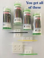 400 (4 Vials) Green Dental Micro Brush Lash Tools Regular Tips (2.0mm) + Bonus