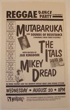 MUTABARUKA AND SOUNDS OF RESISTANCE, THE ITALS, MIKEY DREAD Wolfgang's 1986