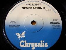 """GENERATION X - KING ROCKER     7"""" VINYL"""