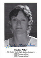 Maike ARLT - DDR, Gold EM 1983 Volleyball, Original-Autogramm!