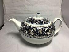 WEDGWOOD CHINA Blue Florentine Teapot with lid, W1956  VGUC