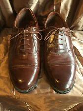 Clarks Chestnut Leather Oxford shoes,Smart Lace-ups, UK 7.5 Extra Wide fitting.