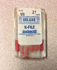 Deluxe K-FILE Endodontic Root Canal Files 21mm size 55