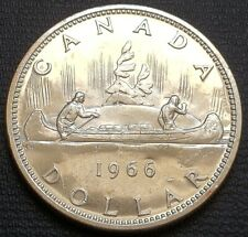 1966 Canada Silver $1 Dollar Coin - 80% Silver - Free Combined Shipping
