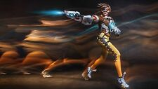 Game Overwatch Tracer Silk Poster Wallpaper 24 X 13 inch