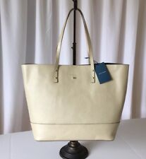Cole Haan Leather Tote Bag Cream Soft Gold - New With Tag