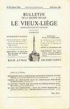 Bulletin de la société Royale Le Vieux-Liège - N° 157 - 1967 - JEUX DE DOIGTS