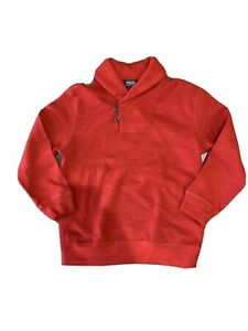 Polo Ralph Lauren Boys' Shawl Neck Red Pullover Sweater Size 6