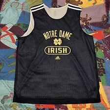 Vintage Notre Dame Fighting Irish Basketball Jersey Mens Large adidas Blue NCAA