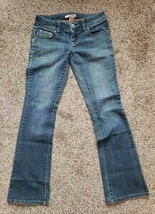 Refuge Women's Distressed Stretch Blue Jeans Junior's Sz 3 (28 x 30)