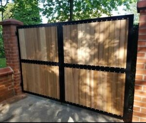 Driveway Gates Metal Wood Composite Made To Measure