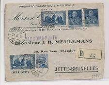 LM82145 Italy 1926 to Belgium registered good cover used