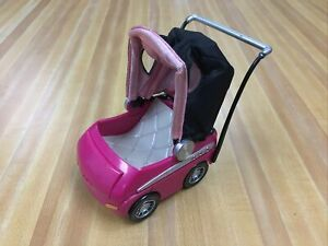 "Bratz Doll Doll  TM & MGA Hot Pink Baby Stroller/Car  5 1/4 "" x 5"""
