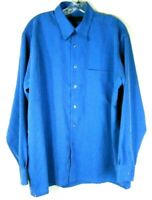 Bugatchi Uomo Mens Long Sleeve Shirt Size M Medium Modal Button-down Blue Check