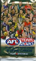 2020 afl teamcoach 5x single sealed packets-in stock