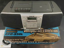 Sony CFD-S38L Radio CD Cassette Recorder Player Fernbedienung, Karton, Anleitung