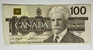 Canada 1988 $100 Dollar Banknote BJJ1615011